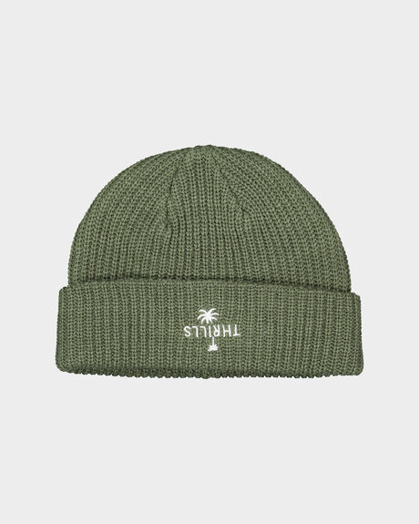 PALM WHAFT BEANIE ARMY GREEN