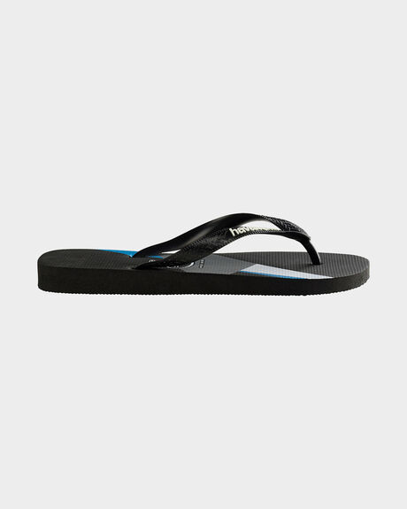 KIDS TREND (GEO) BLACK/TURQUOISE THONG