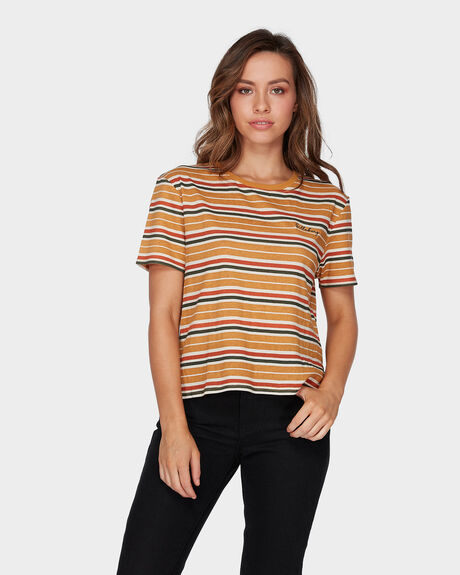 RADIANT STRIPE CROP TEE