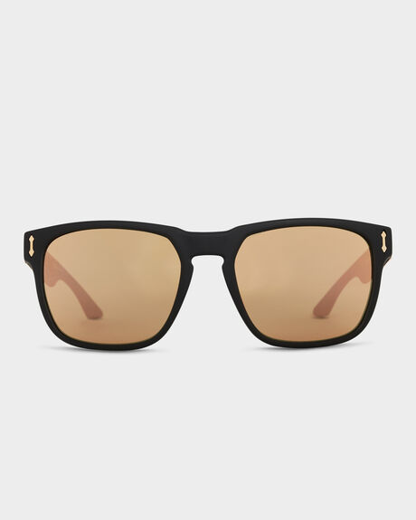 MONARCH MATTE BLACK ROSE GOLD SUNGLASSES