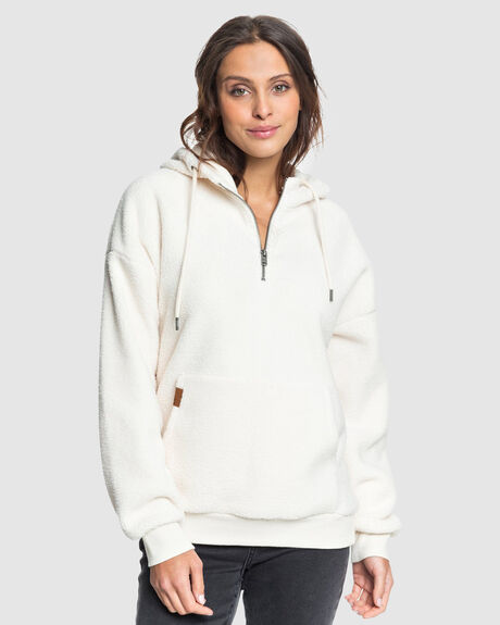 GOING LEFT HALF-ZIP POLAR FLEECE HOODIE