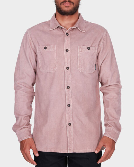 WAVE WASHED CORD LONG SLEEVE SHIRT