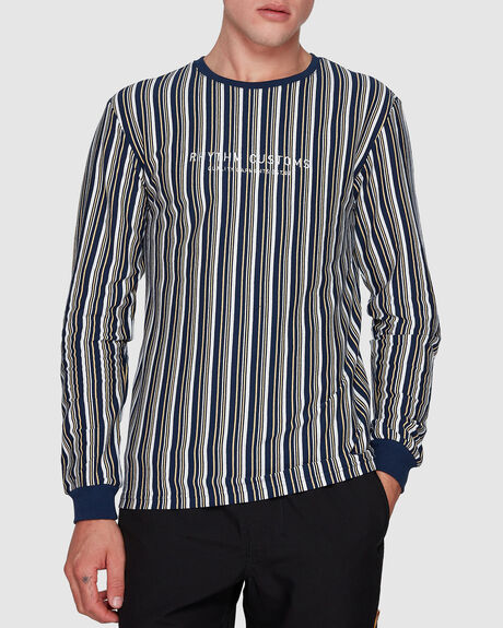 UPTOWN STRIPE LONG SLEEVE SHIRT
