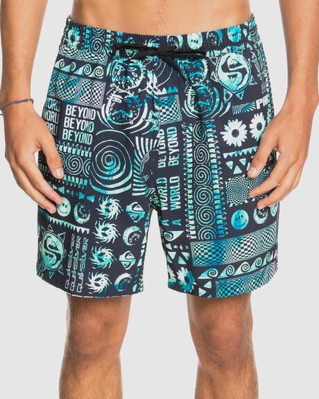 "MENS RAVE WAVE 17"" SWIM SHORTS"