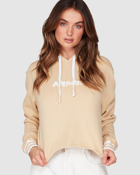 FLOCK CROP PULL ON HOODIE