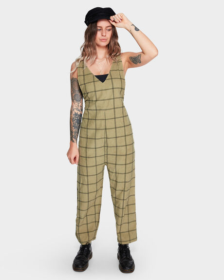 VENICE CHECK JUMPSUIT