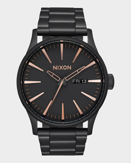 SENTRY SS ALL BLACK ROSE GOLD WATCH