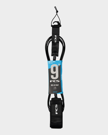 FCS 9' REG CALF' ESSENTIAL LEASH BLACK