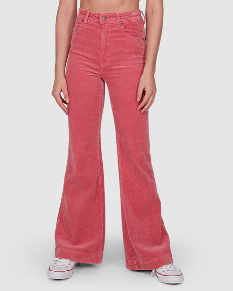 WOMENS EASTCOAST FLARE ROSE CORD JEAN