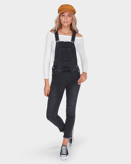 SLIM FIT CROPPED OVERALL