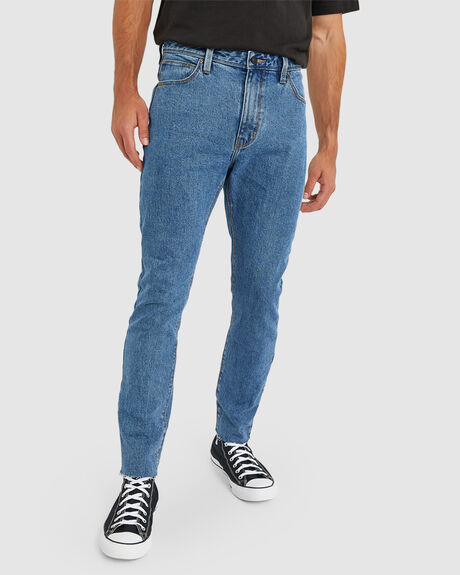 MENS A DROPPED SLIM TURN UP JEAN