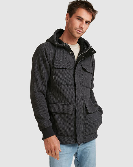 MENS A4 BONDED ZIP COAT JACKET