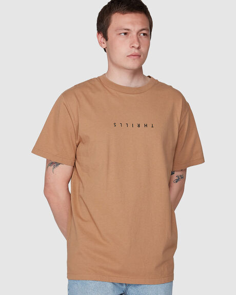 MINIMAL THRILLS MERCH FIT TEE - BRONZE