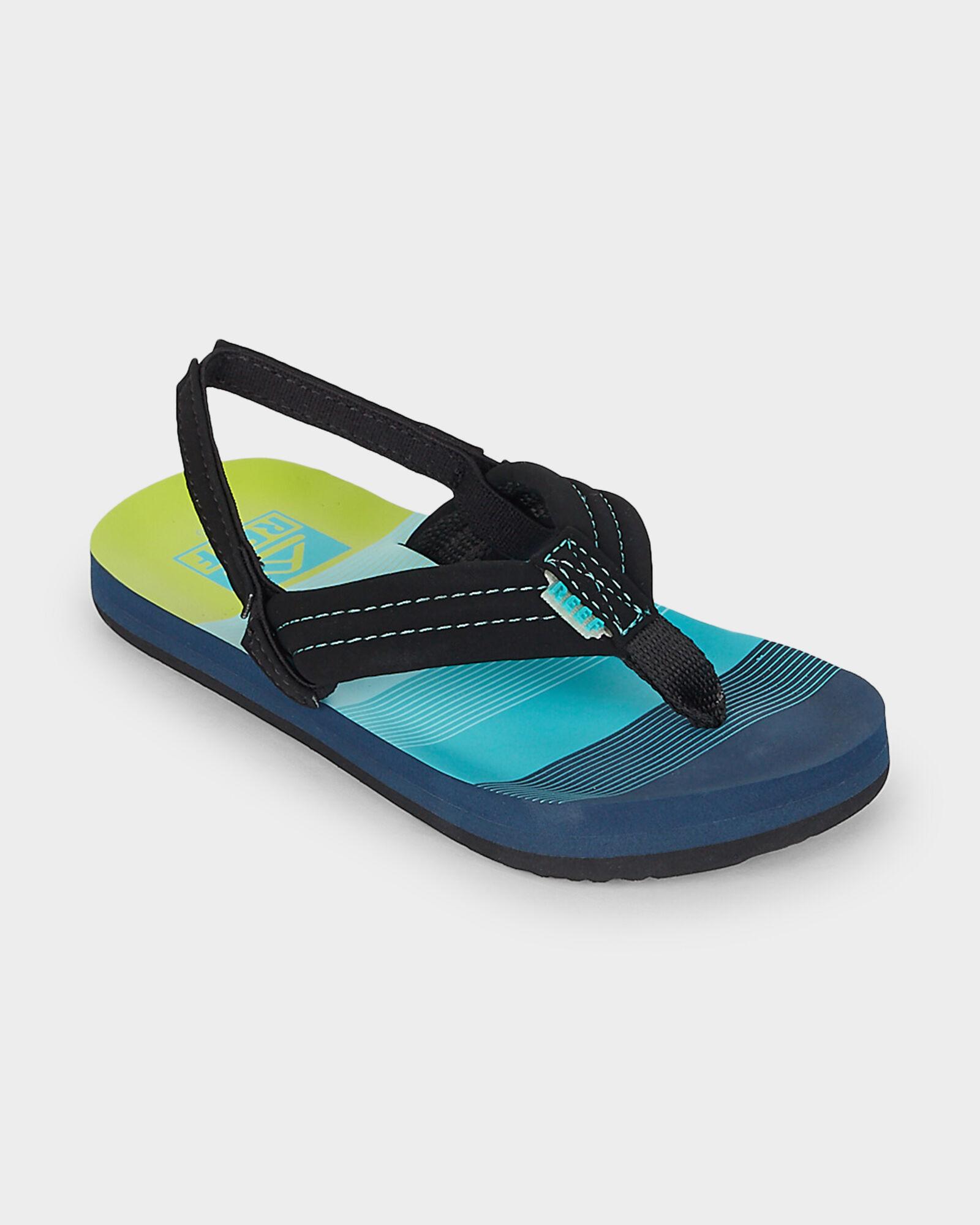 73477221afe8 REEF Ahi Toddler Boys Slip On Aqua Green Flip Flop Sandals Size 3 4 T Baby  Shoes