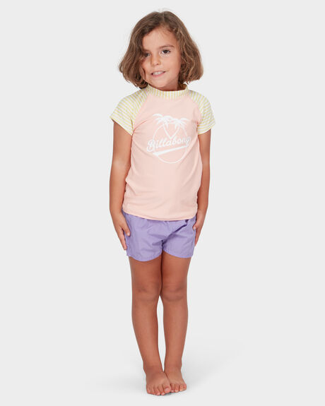 GIRLS SOLEIL STRIPE RASH GUARD