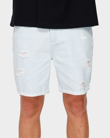 RVCA ROCKERS CUFFED DENIM SHORT