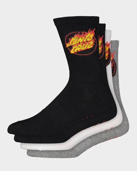 FLAME DOT SOCK - 4PR