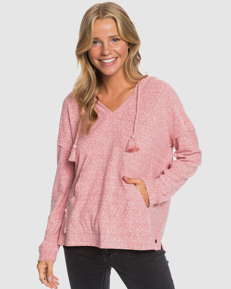 WOMENS LOVELY LIFE LS PONCHO HOODIE