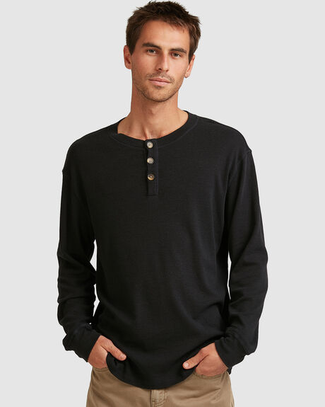 MENS DIVISION LONG SLEEVE HENLEY TEE