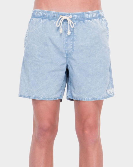BAYWATCH BLUE ACID ELASTIC SHORT