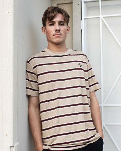 ZEPPELIN HEMP STRIPE SHORT SLEEVE TEE