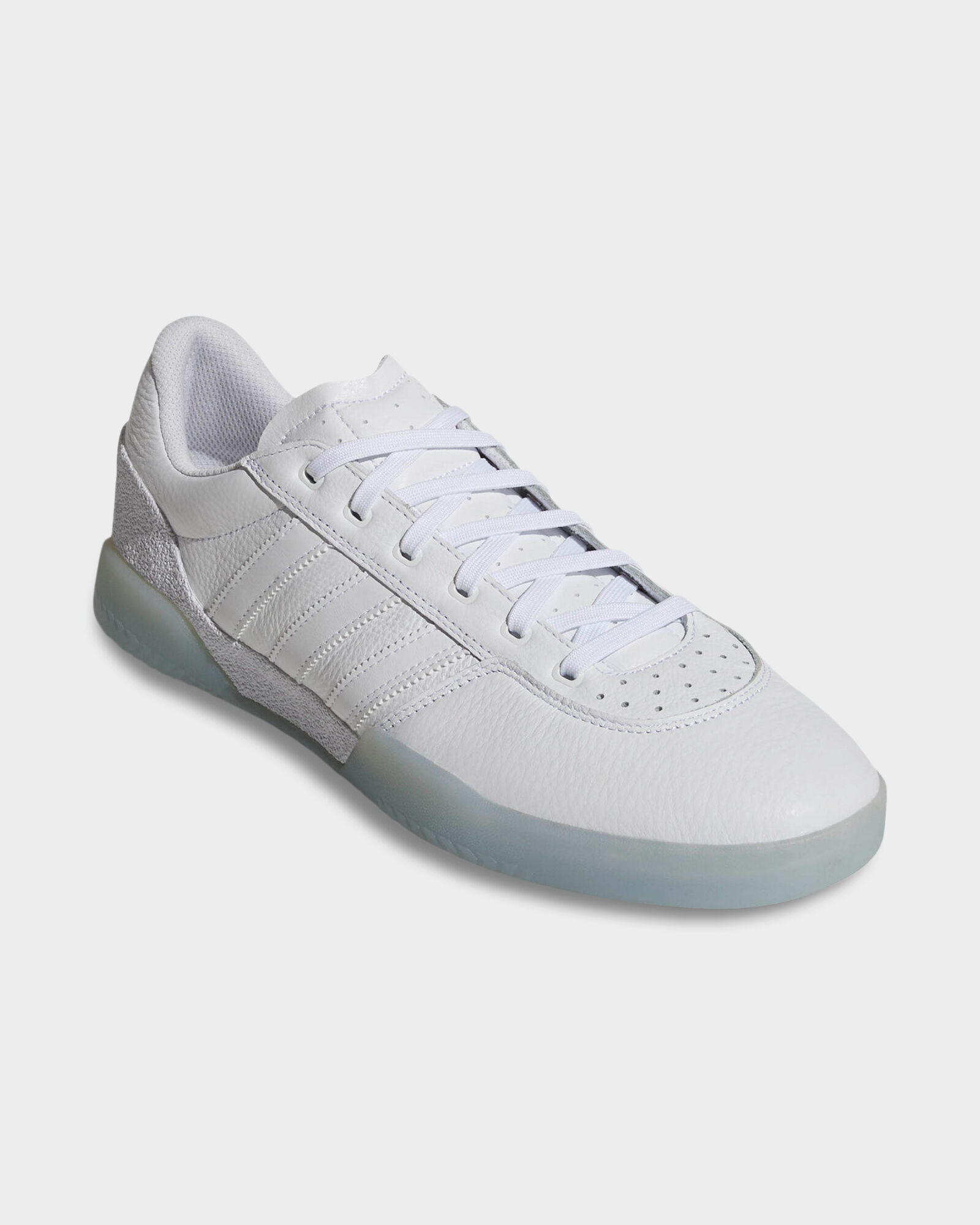 White ADIDAS CITY CUP WHITE LEATHER SHOE | Surf, Dive 'N' Ski