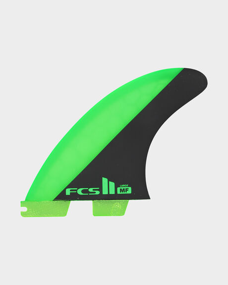 FCS II MF PC GREEN/BLACK LARGE TRI RETAIL FINS