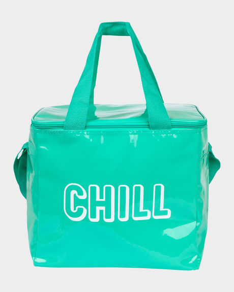 B. COOLER BAG L NEON TURQUOISE