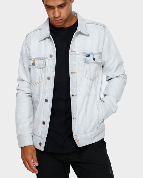RVCA DISTRESSED DENIM JACKET