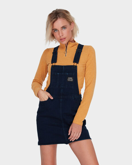 NELLIE DENIM PINAFORE DRESS