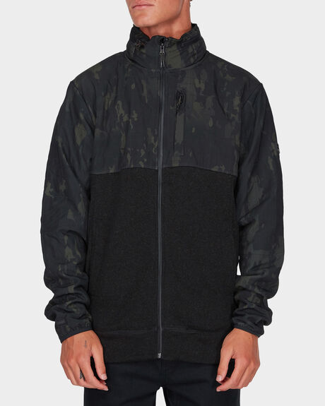 BOUNDARY MULTICAM ZIP FLEECE HOODIE