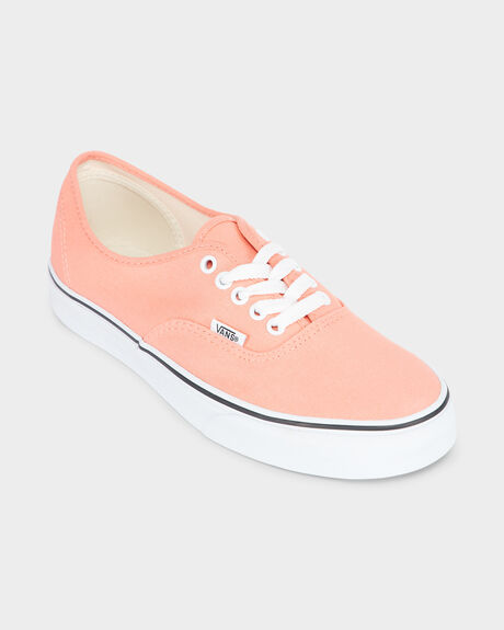 AUTHENTIC VANS PEACH PINK TRUE WHITE SHOE