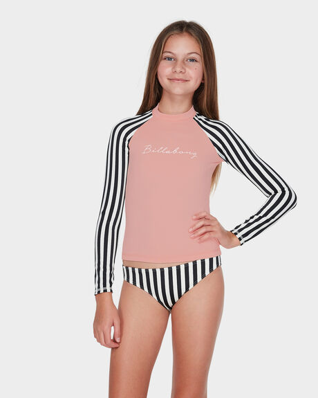 TEEN SUN STRIPED LONG SLEEVE RASH VEST SET