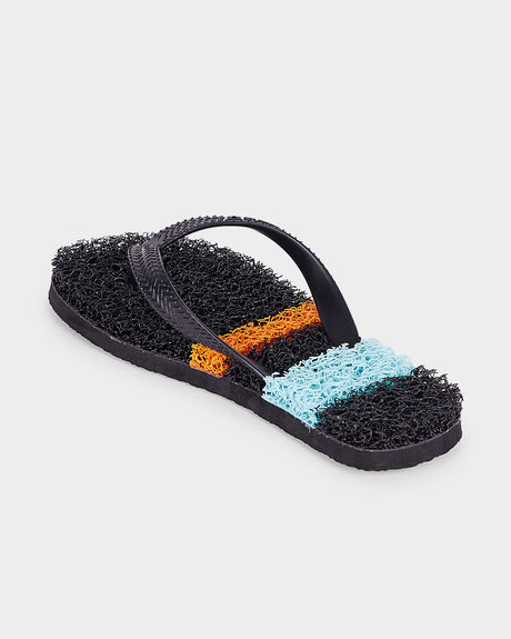 BOYS NOODLE SURF STRIPE BLACK ORANGE