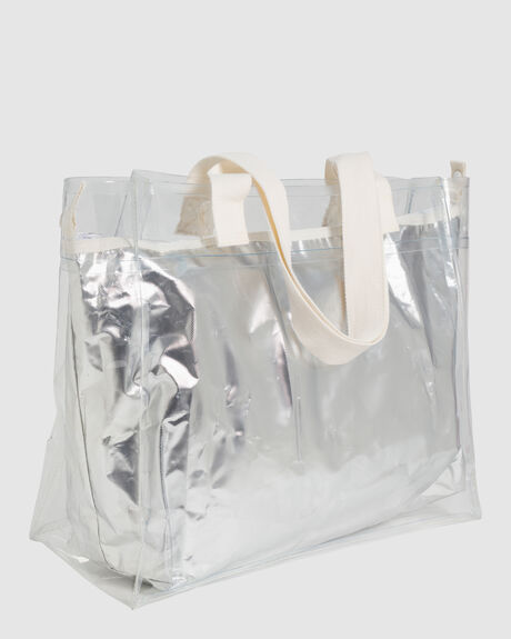 COOLER CARRY ME TOTE SILVER