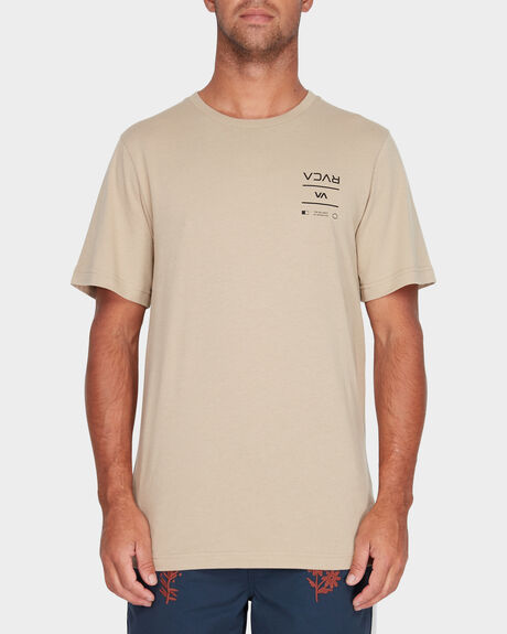 RVCA BETWEEN THE LINES SHORT SLEEVE TEE