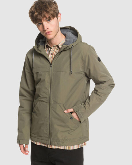 MENS WAITING PERIOD HOODED WATER RESISTANT JACKET
