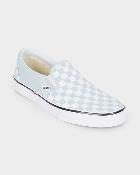 Checkerboard) Baby CLASSIC SLIP ON CHECKERBOARD BABY BLUE TRUE WHITE ... d3adf9784