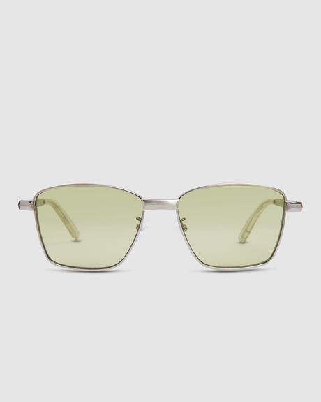 SUPASTAR  BRUSHED SILVER SUNGLASSES
