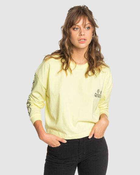 QUIKSILVER WOMENS ORIGINALS SCREEN LONG SLEEVE T SHIRT