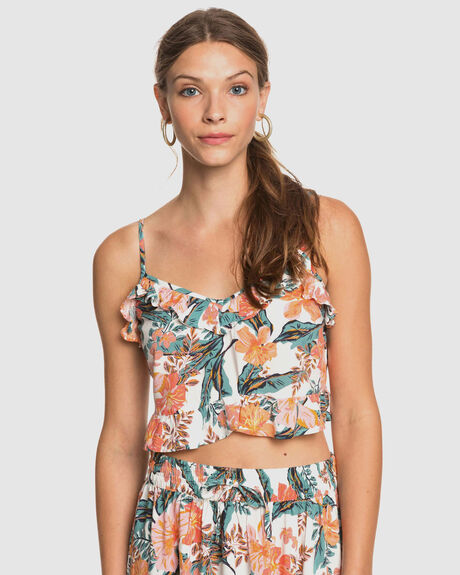 WOMENS STORY ME STRAPPY CROP TOP
