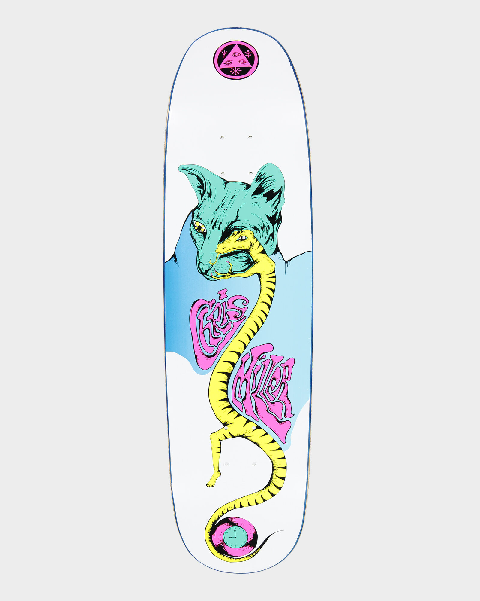 "Welcome Skateboard Deck Miller Lizard Eye on Catblood 2.0 White 8.75/"" x 32.88/"""