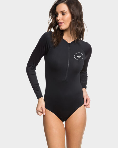 ESSENTIALS LONG SLEEVE ZIPPED UPF 50 ONE-PIECE SWIMSUIT