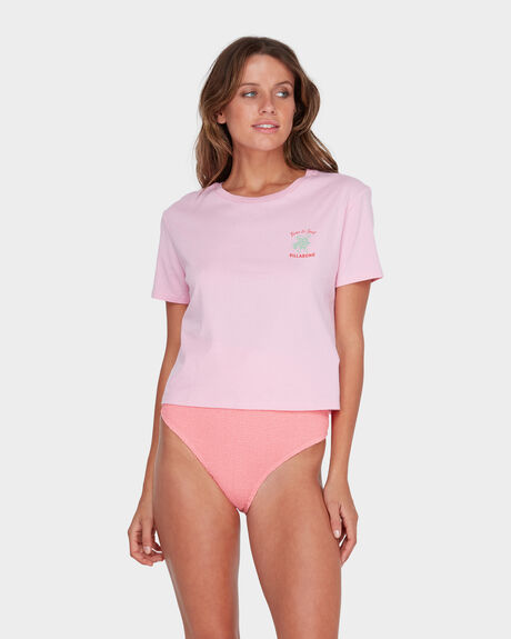 TIME TO SURF CROP TEE