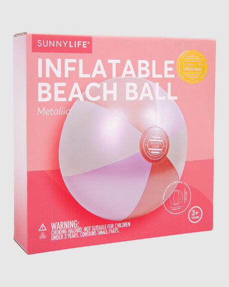INFLATABLE BEACH BALL I METALLIC