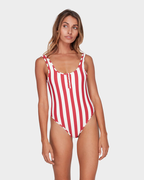 SUNSET STRIPE ONE PIECE