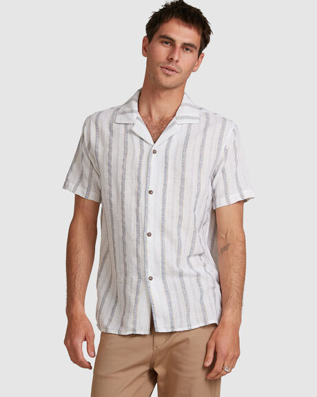 MENS VACATION STRIPE SS SHIRT