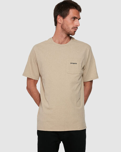 MENS LINE LOGO RIDGE POCKET RESPONSIBILI-TEE