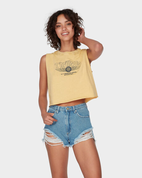 A HIGH RELAXED SHORT - SALTY