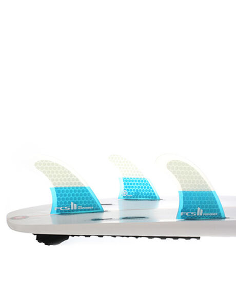 FCS II PERFORMER PC TEAL LARGE TRI RETAIL FINS